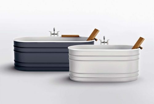 A contemporary restyling of the old-fashioned bathtub