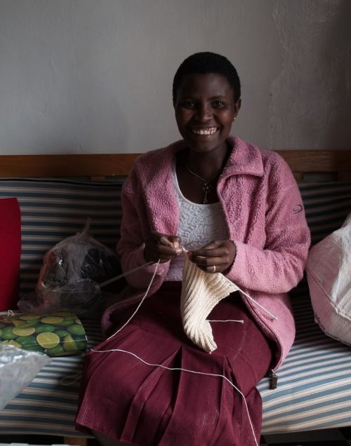 Skilled in traditional crafts these women earn a living knitting for Toto Knits