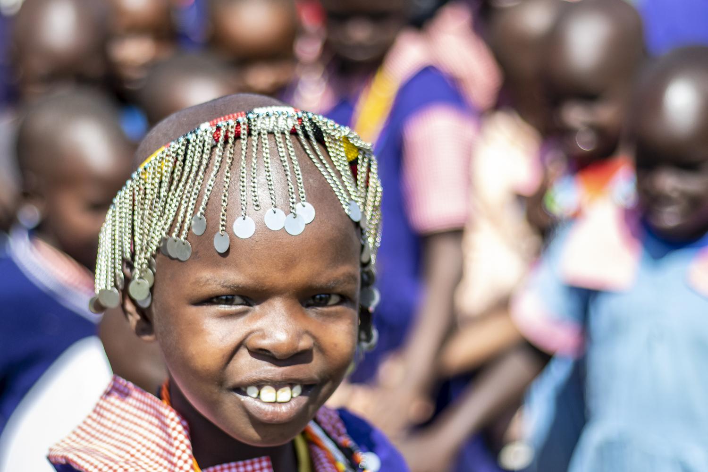 PARTAKILAT - CHILD at School opening ceremony - the angama foundation