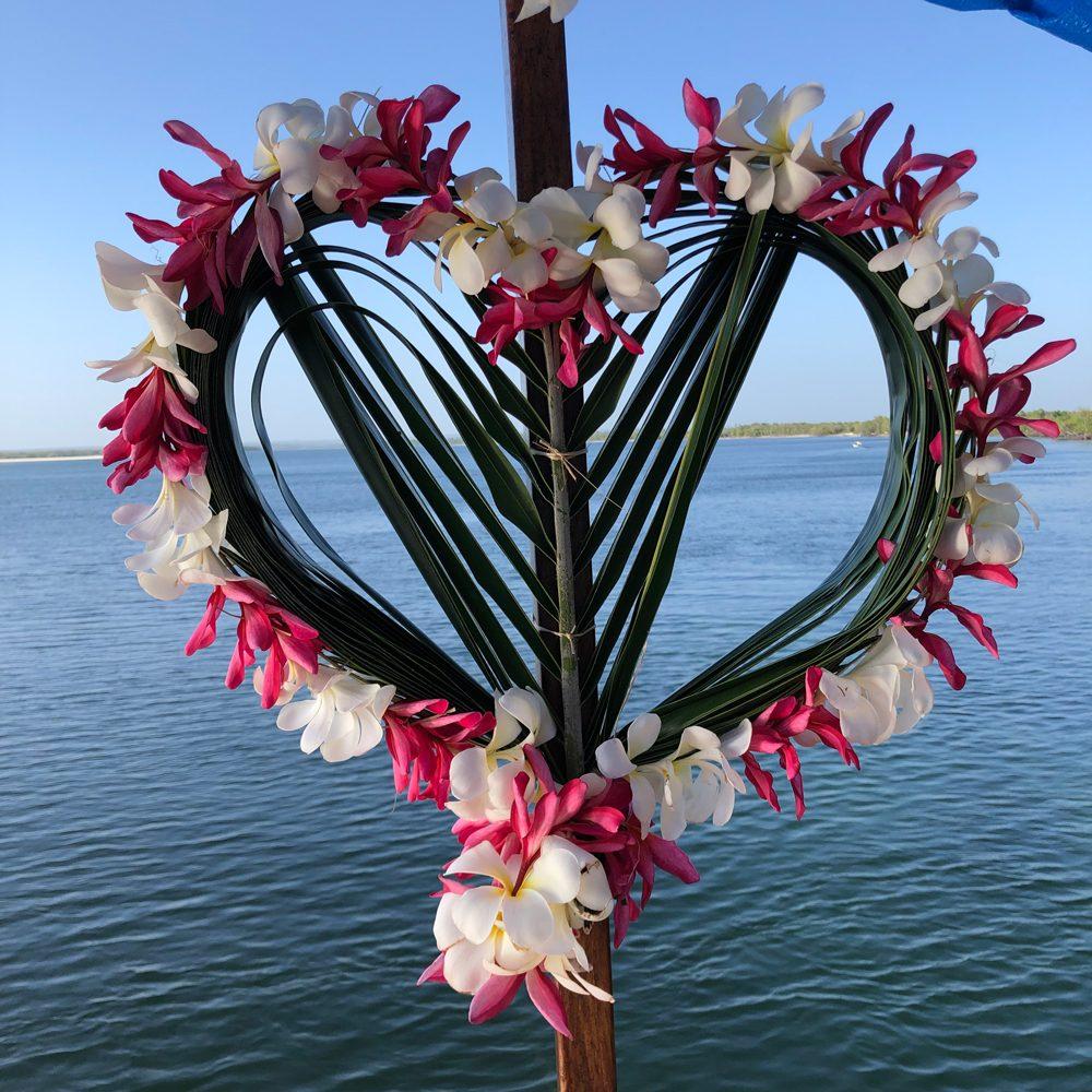 Swahili heart flowers