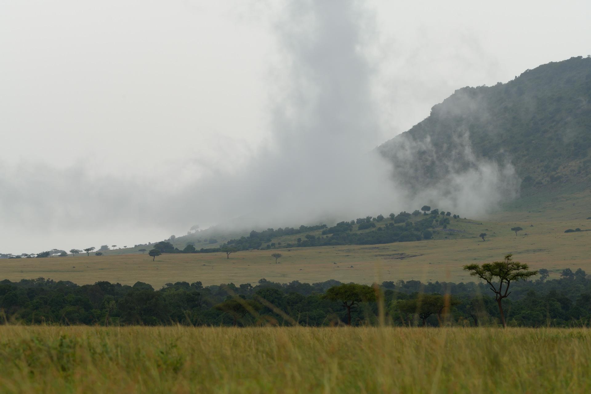 clouds and escarpment