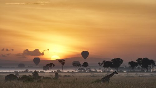 Sunrise Ballooning in the Mara is a magnificent way to start the day