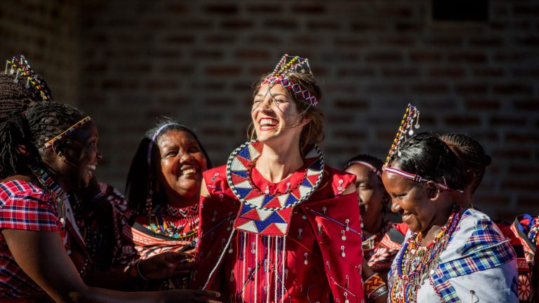 Maasai celebration at Angama Mara