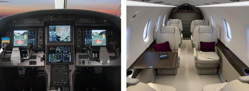 The cockpit and interiors of the Pilatus PC-12