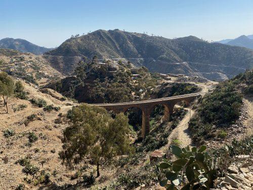 Road and railway to Massawa, Eritrea