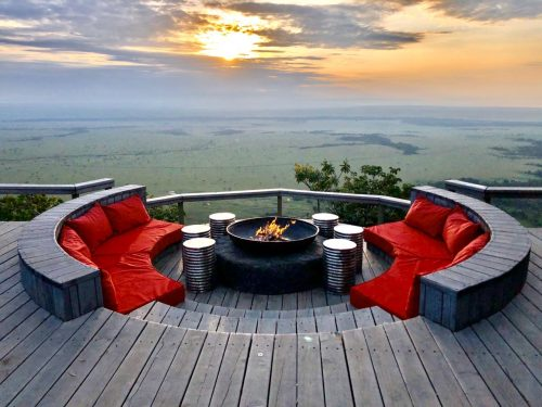 Angama Mara's baraza, perched on the edge of the Great Rift Valley and a sundowner favourite for many a guest