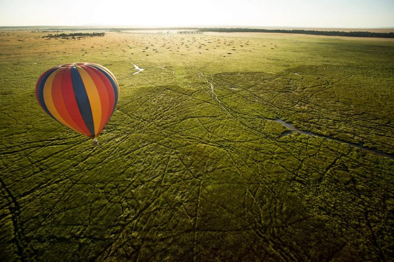 Sailing away in a hot air balloon