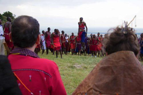 A performance from Maasai Warriors
