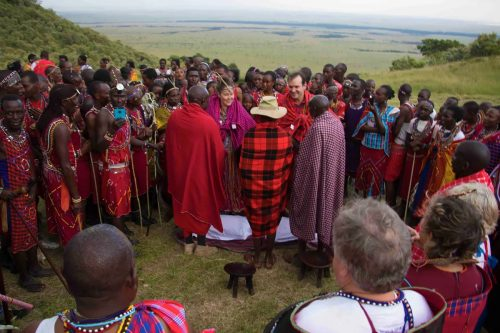 Maasai elders conduct the ceremony