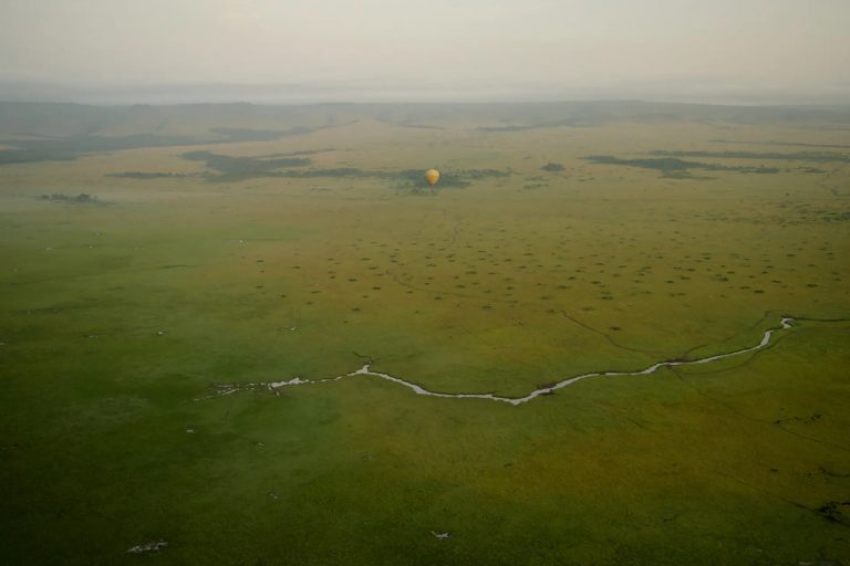Green plains of the Mara below