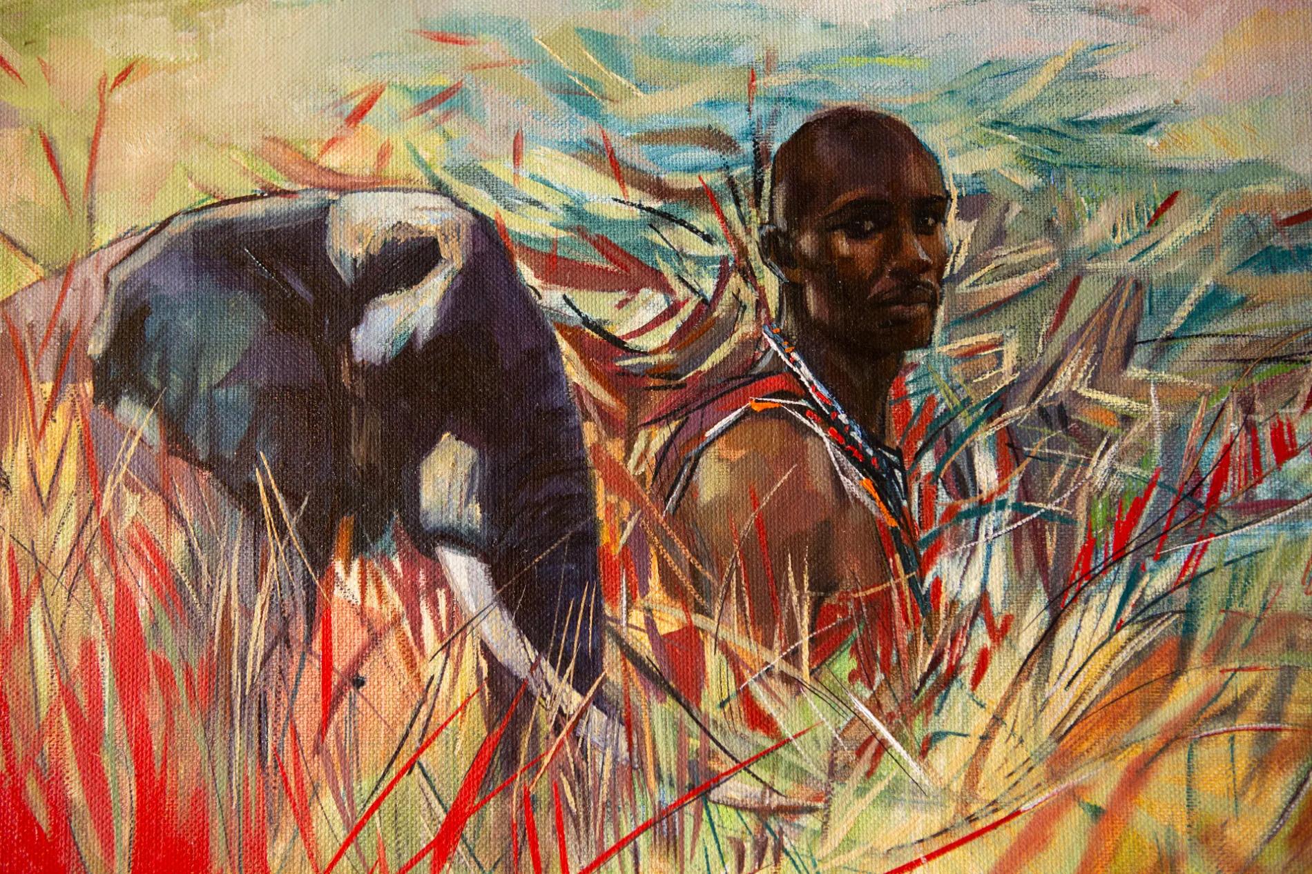 Emily Lamb Maasai and Elephant