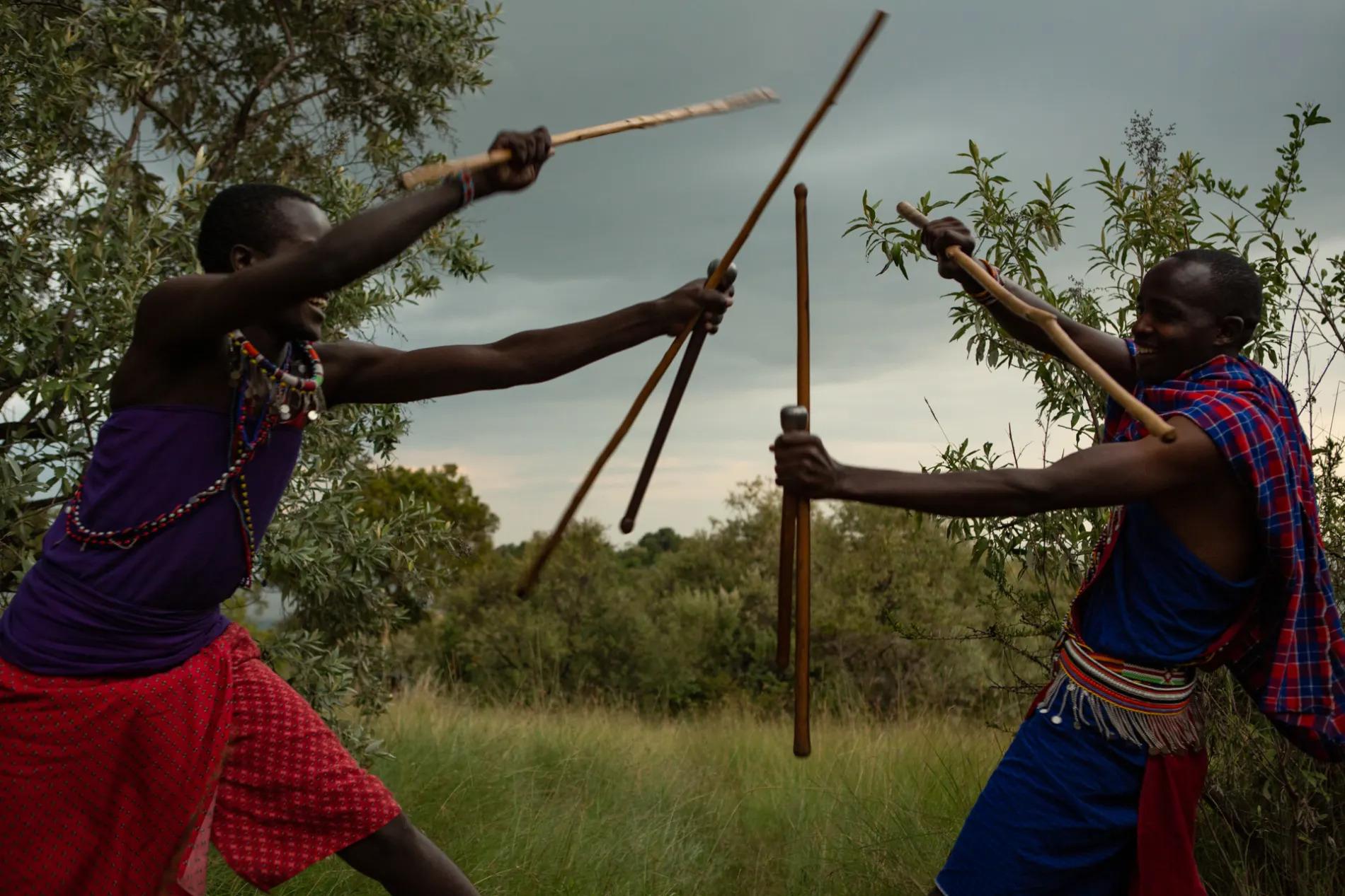 Maasai Stick Fight