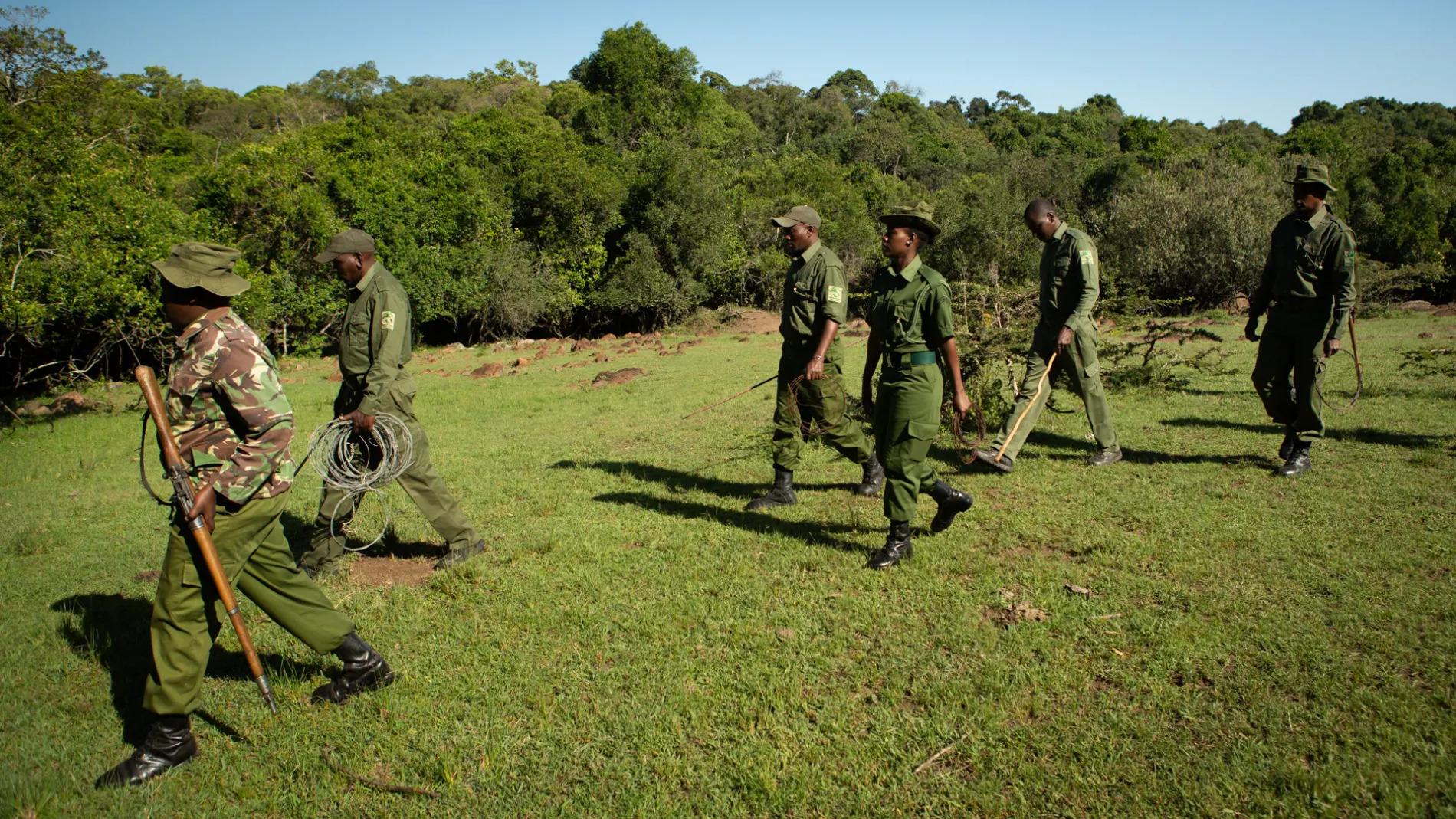 snare team walking