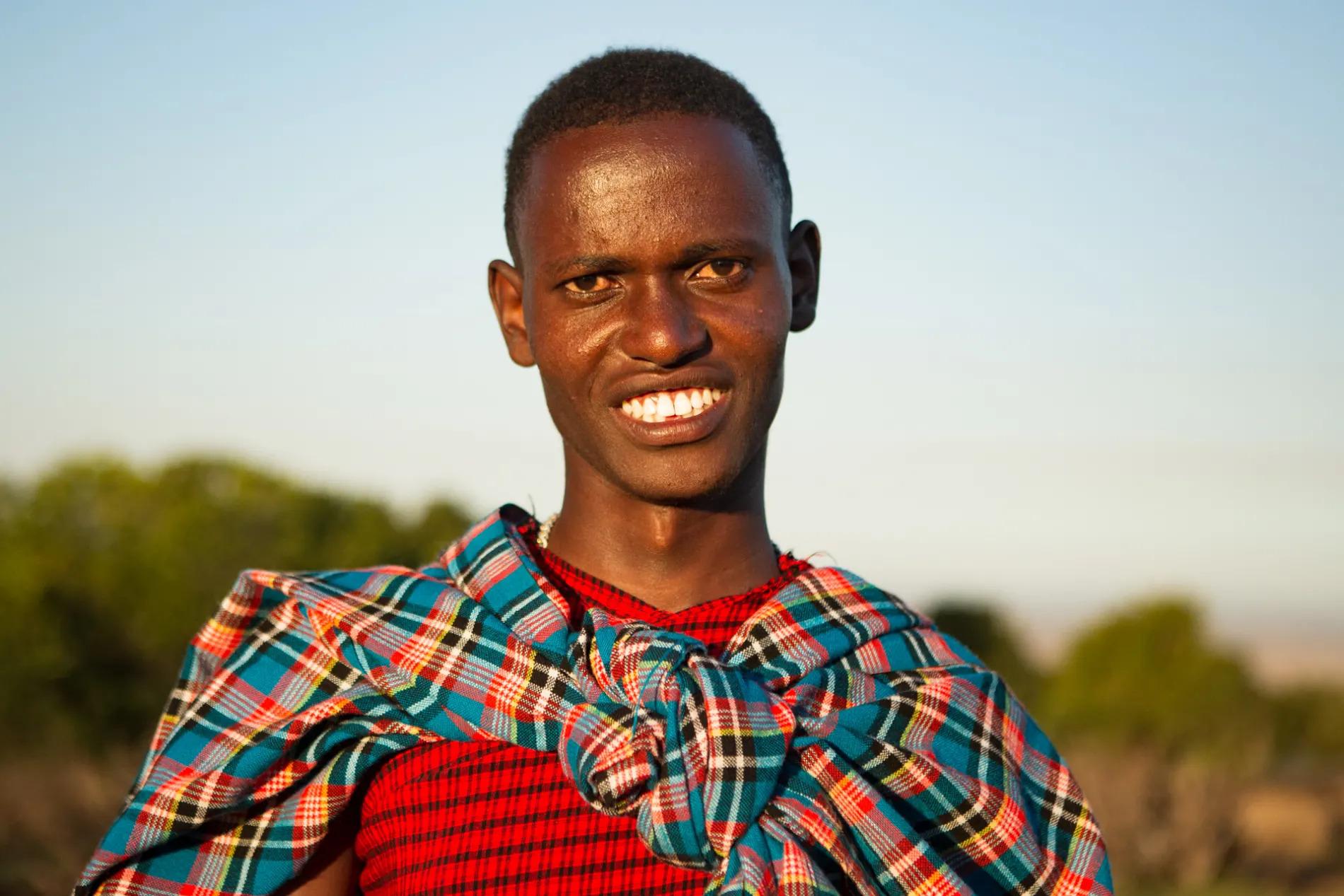 Maasai Man in red