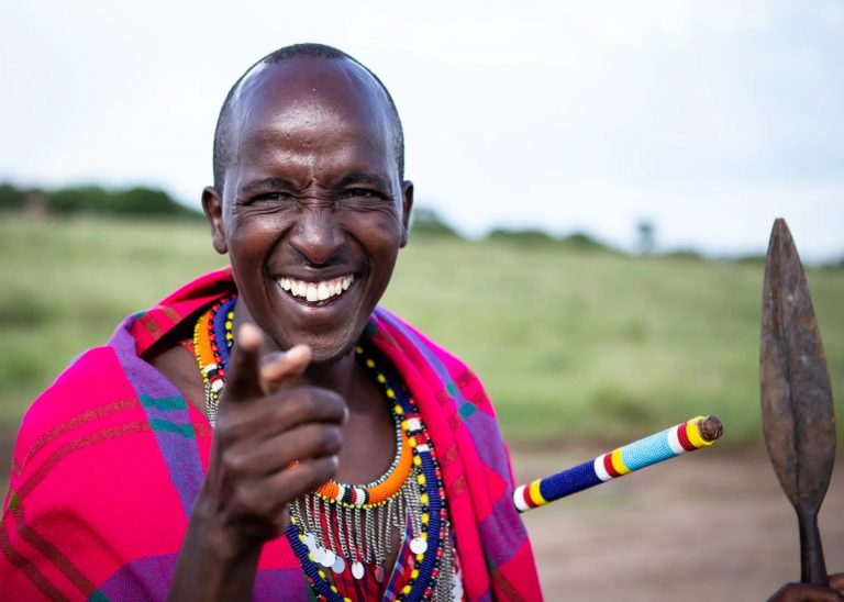 Alfred in Maasai traditional wear