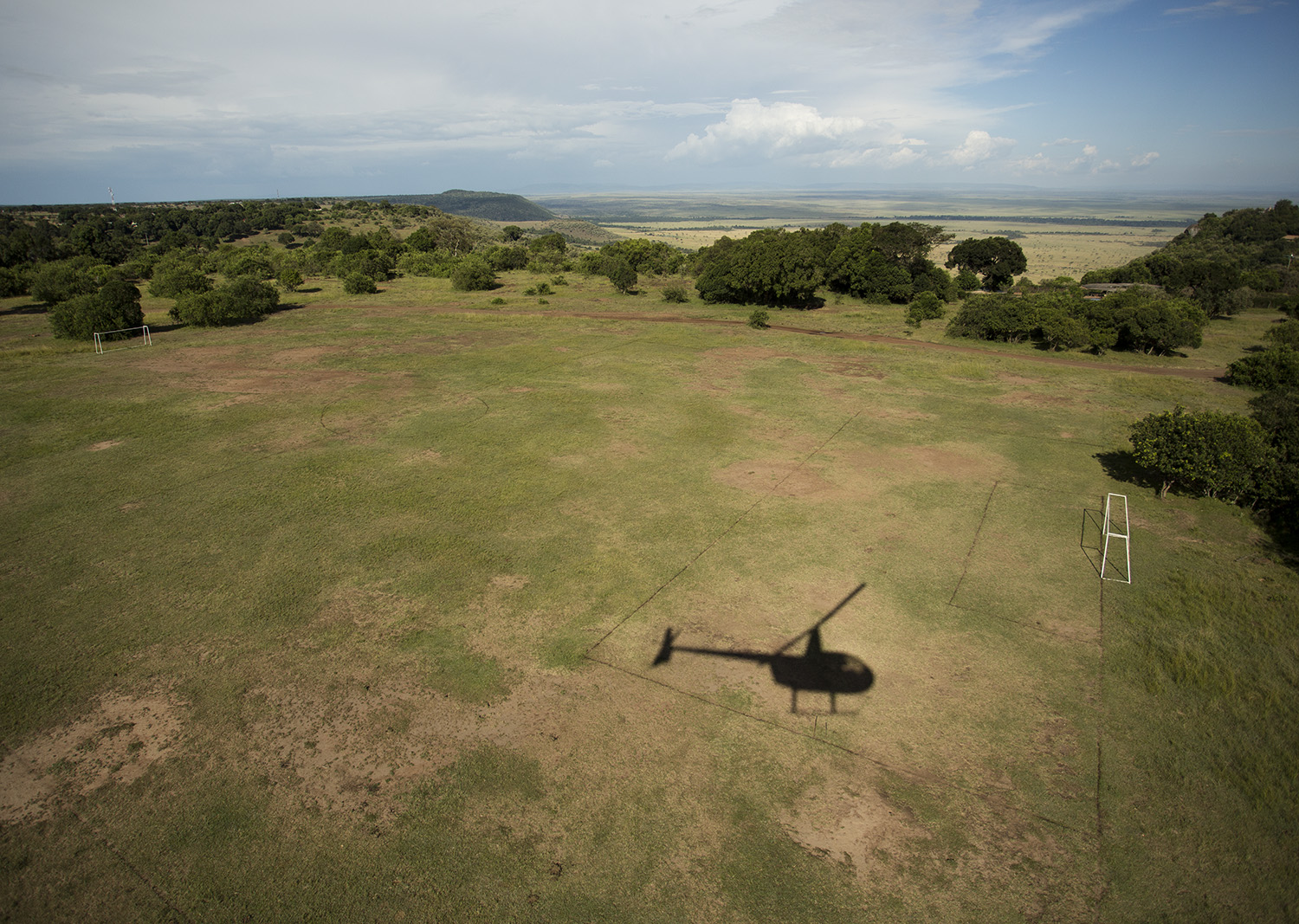 Helicopter football pitch