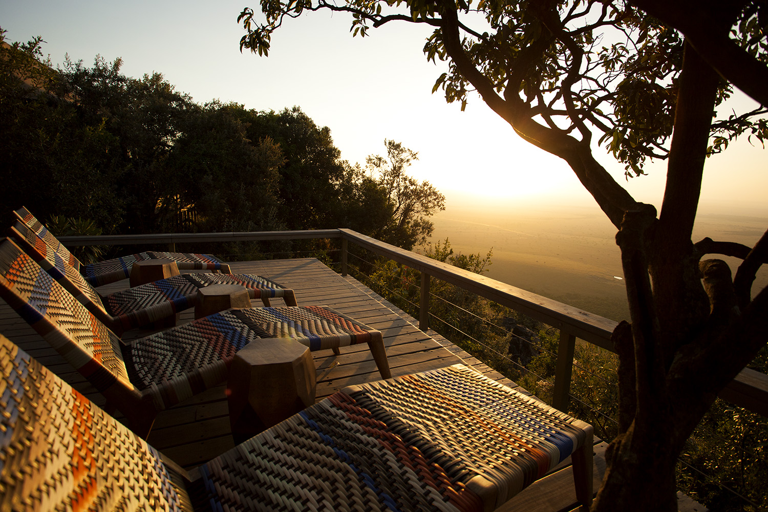 Sunrise from the deck at Angama