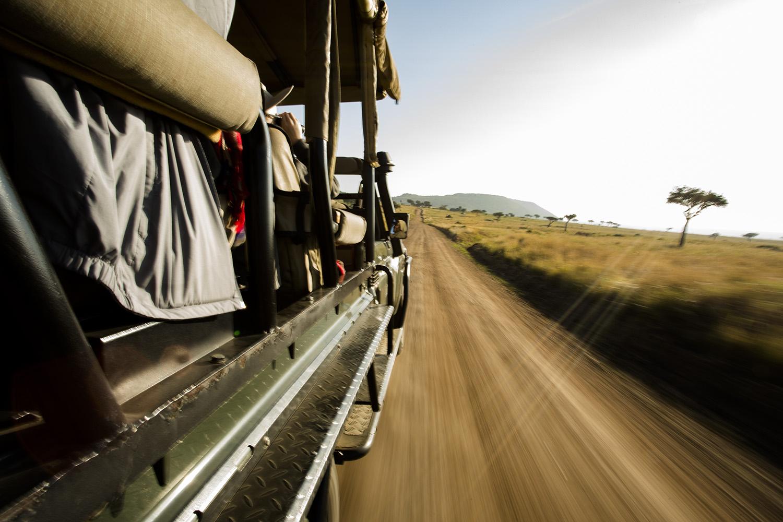 Safari Car in the maasai mara