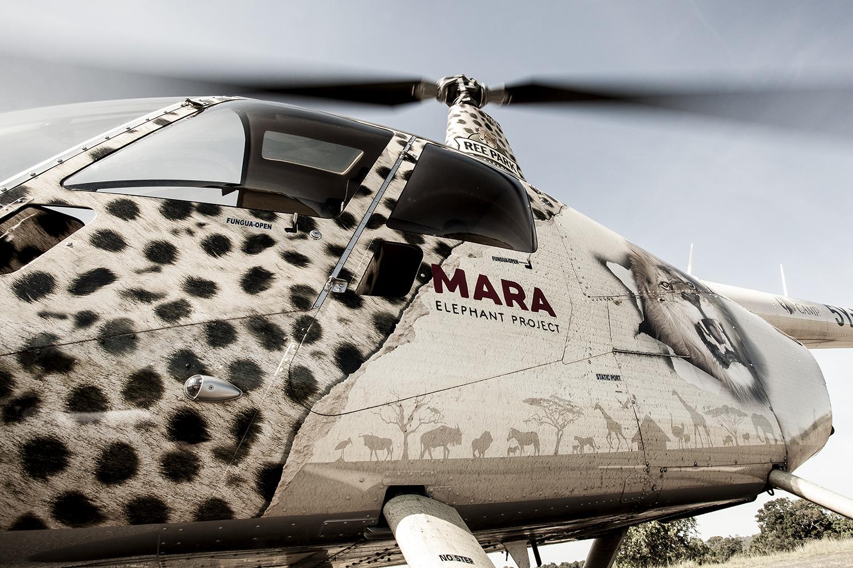 Helicopter Mara Elephant Project
