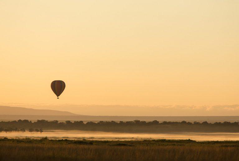 Balloon ride at first light