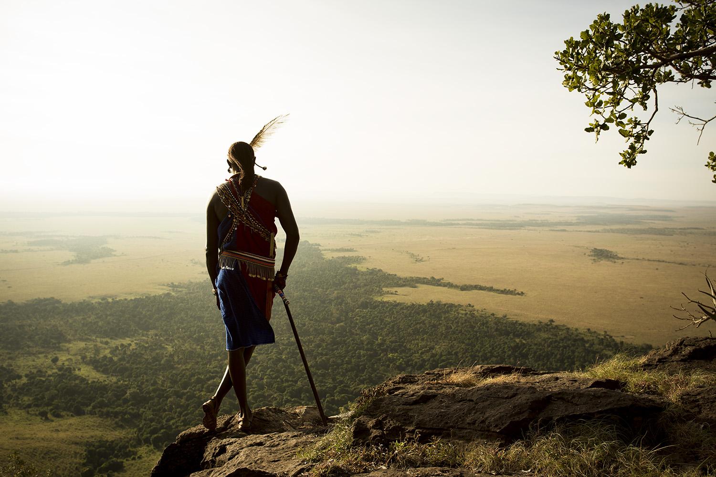 Maasai on Out of Africa Kopje