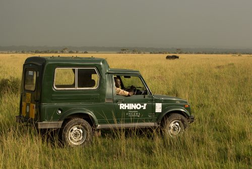 You will often come across the anti-rhino-poaching vehicle doing its rounds in the Mara Triangle
