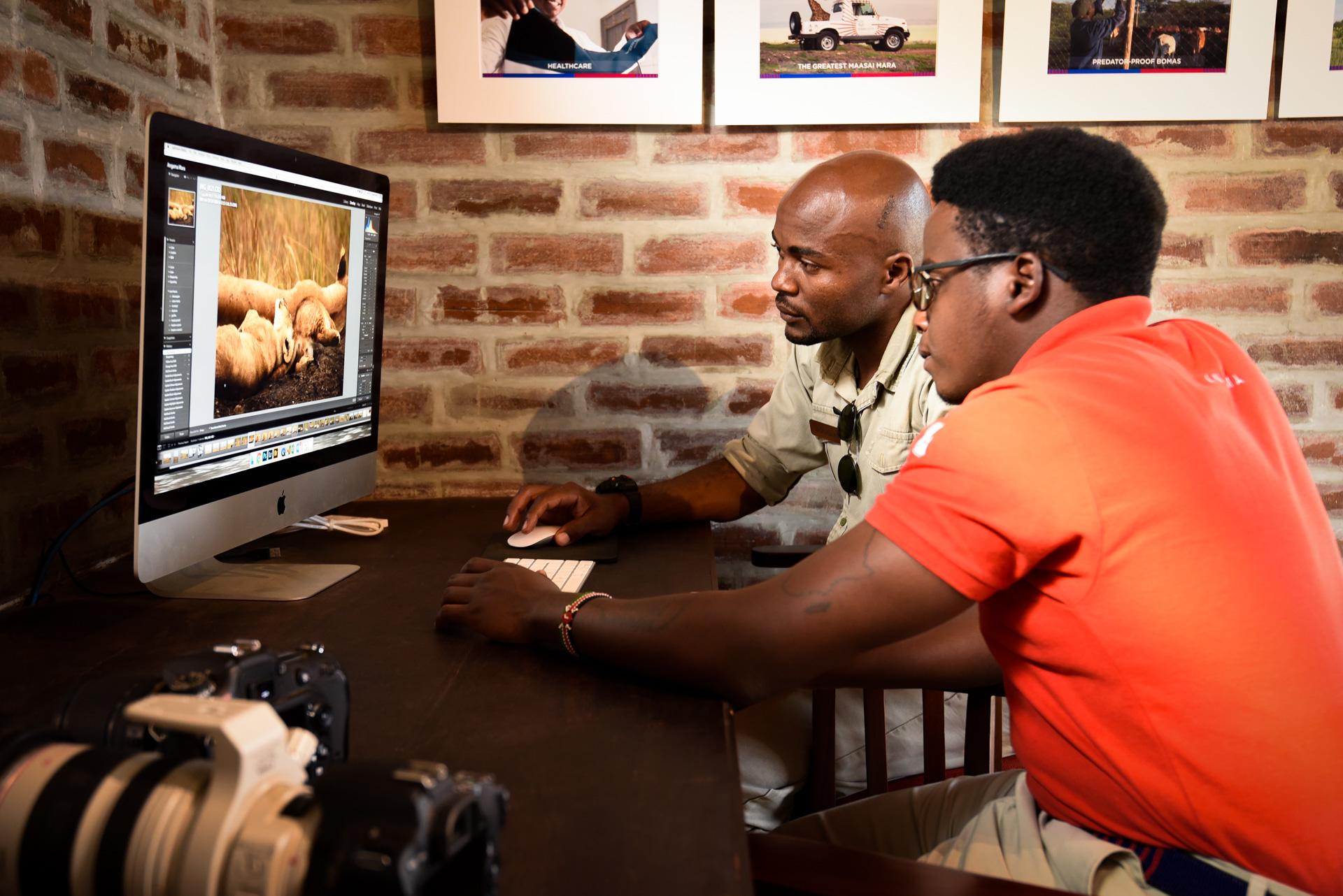 Doug and Jeff editing