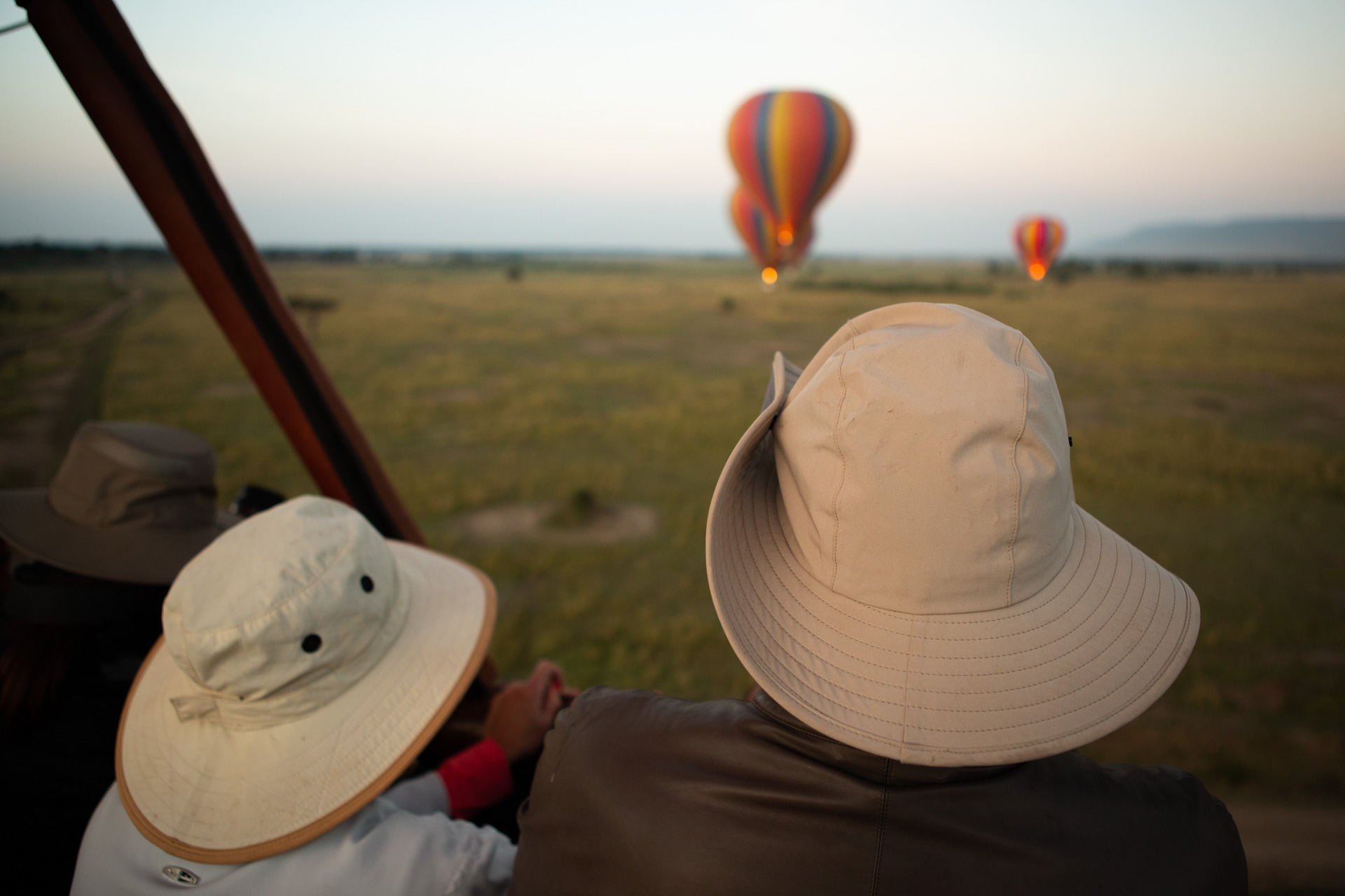 hats and balloons