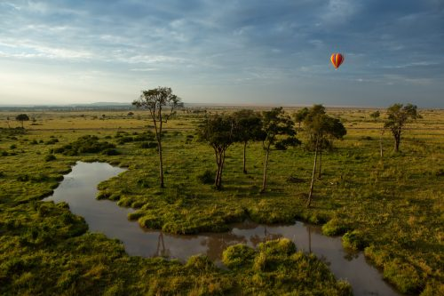 Ballooning over the Mara is one of the best ways to appreciate the beauty of the landscape
