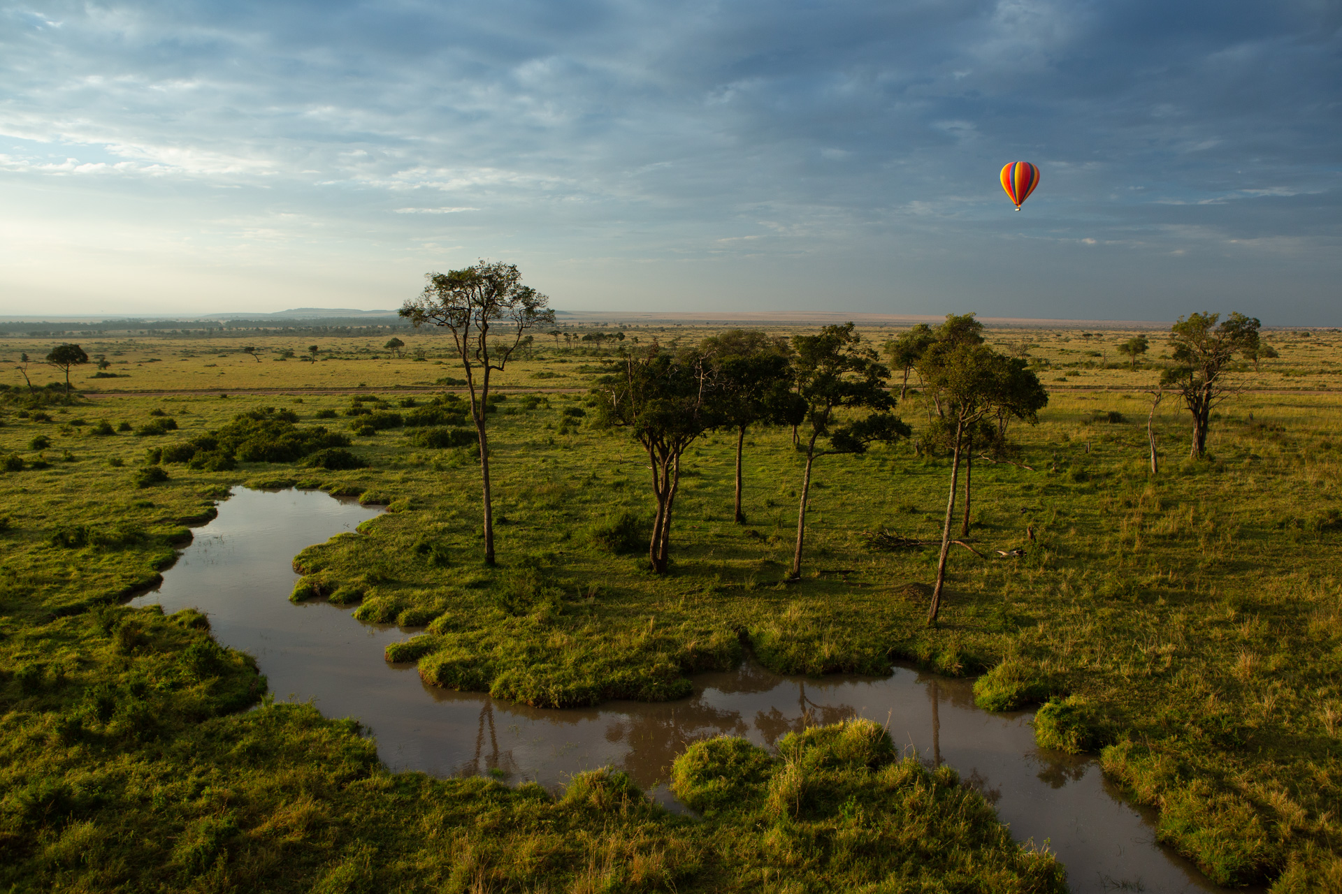 Balloon and stream