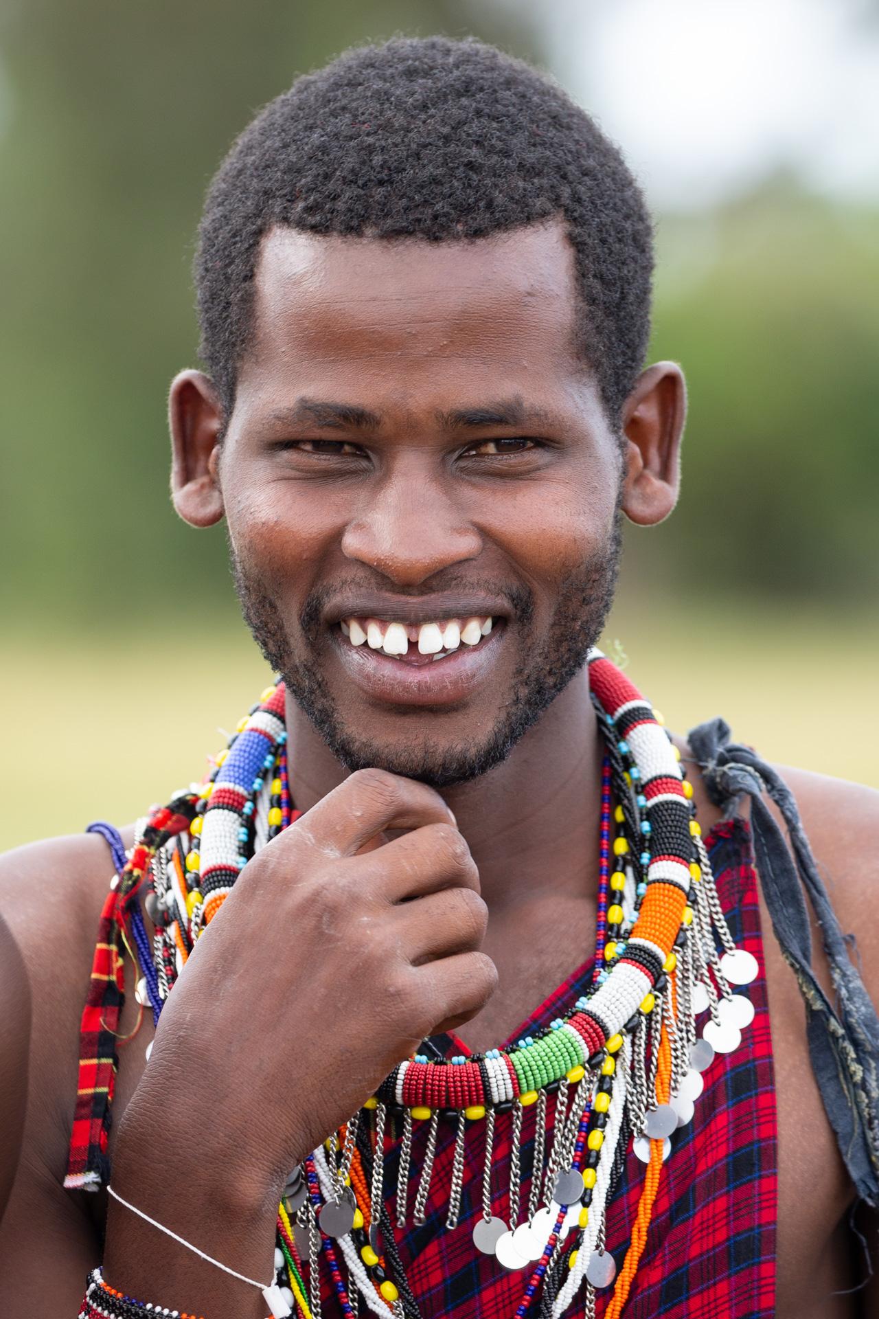 Maasai smiling