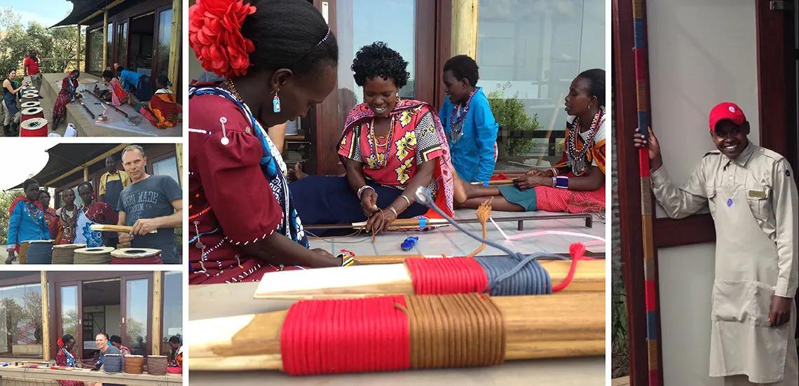 Weaving at Angama Mara