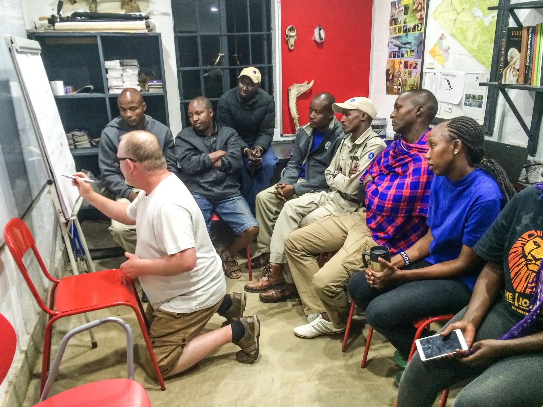 Adam Kennedy Training Angama Mara guides