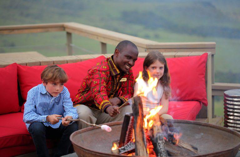 Toasting Marshmallows at Angama Mara