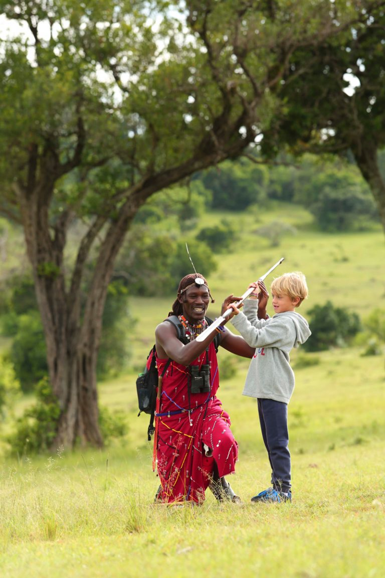 Spear throwing with Maasai Warrior