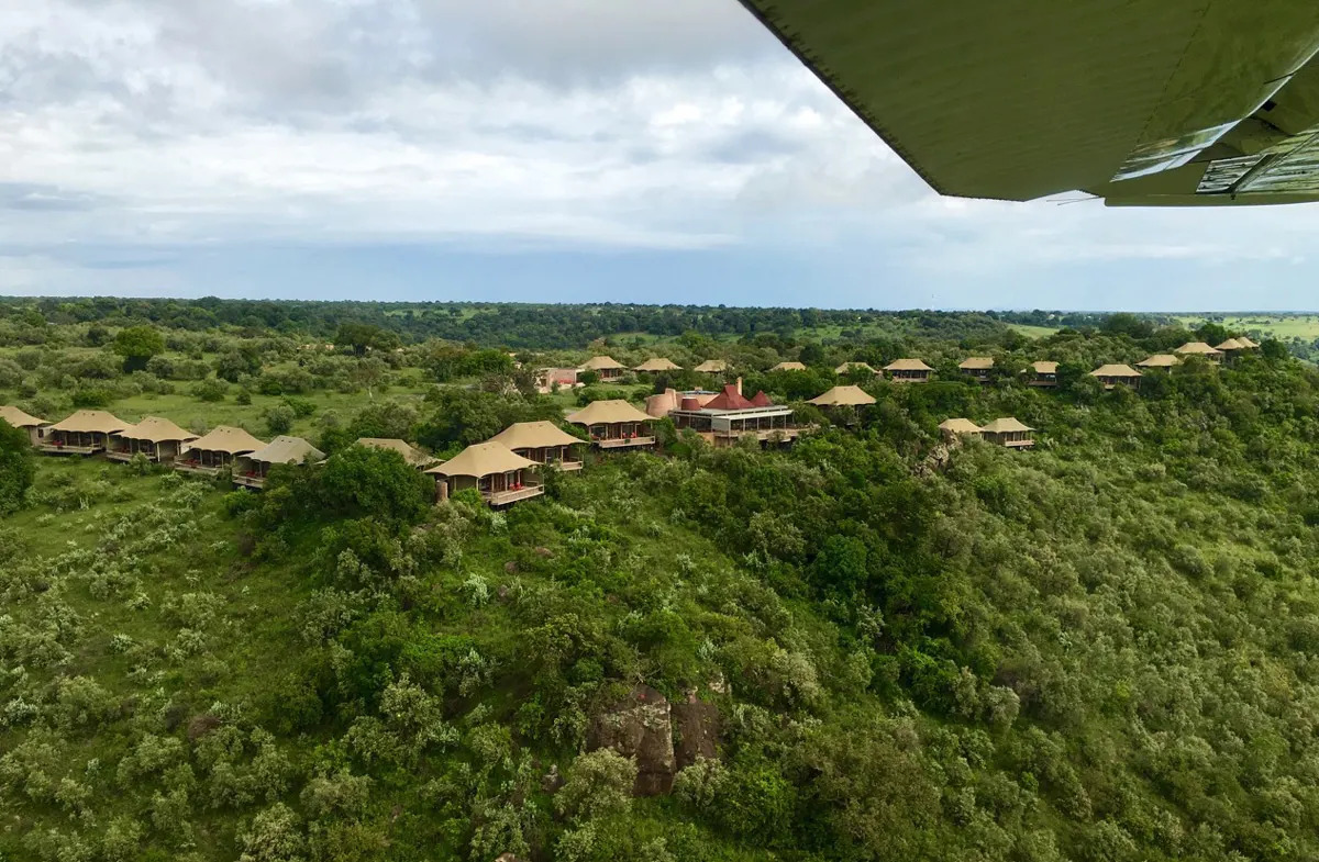 Angama Mara from the Air