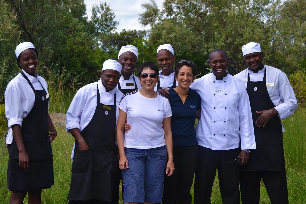 Shaheen, Fareen and the Angama cheffing team