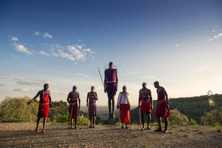 A beautiful performance by Maasai Warriors