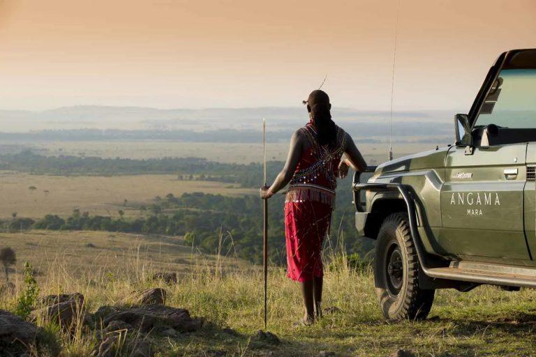 Angama views with Maasai Naturalist Fred
