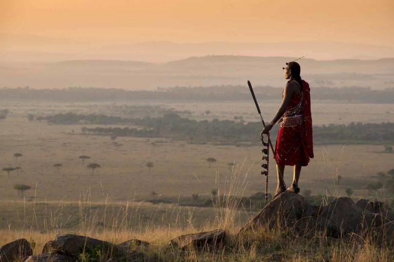 Maasai Warrior in Maasai Mara