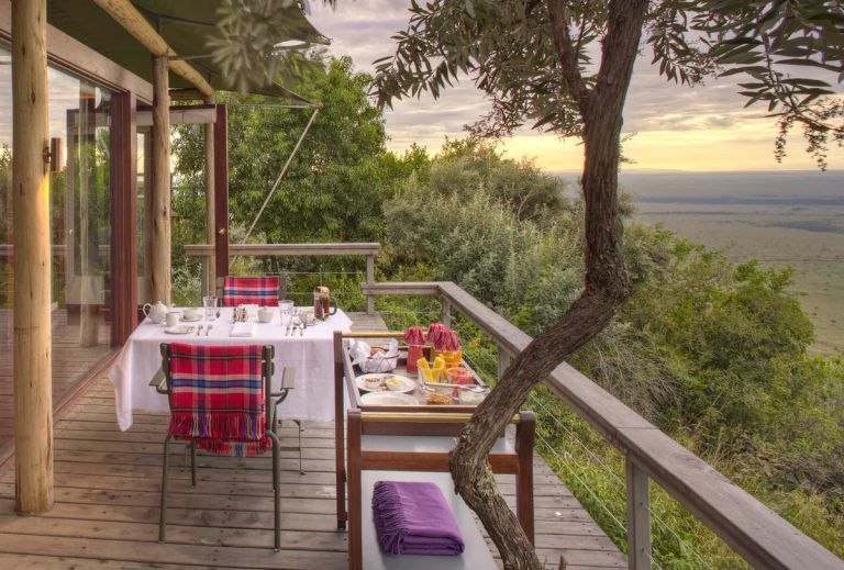 Dining on your very own tent deck
