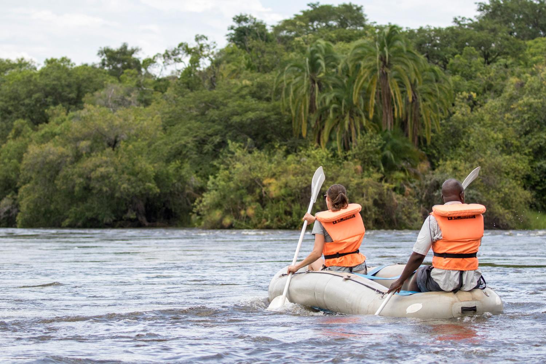 Canoeing along the Zambezi