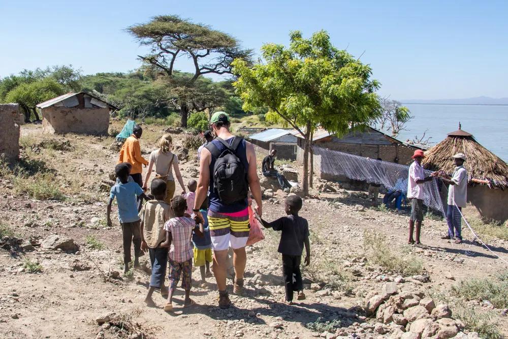 Children at Lake Baringo