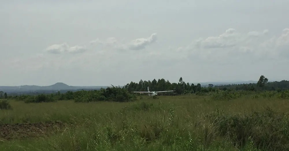 Coastal Airplane lands at Tarime Air Strip