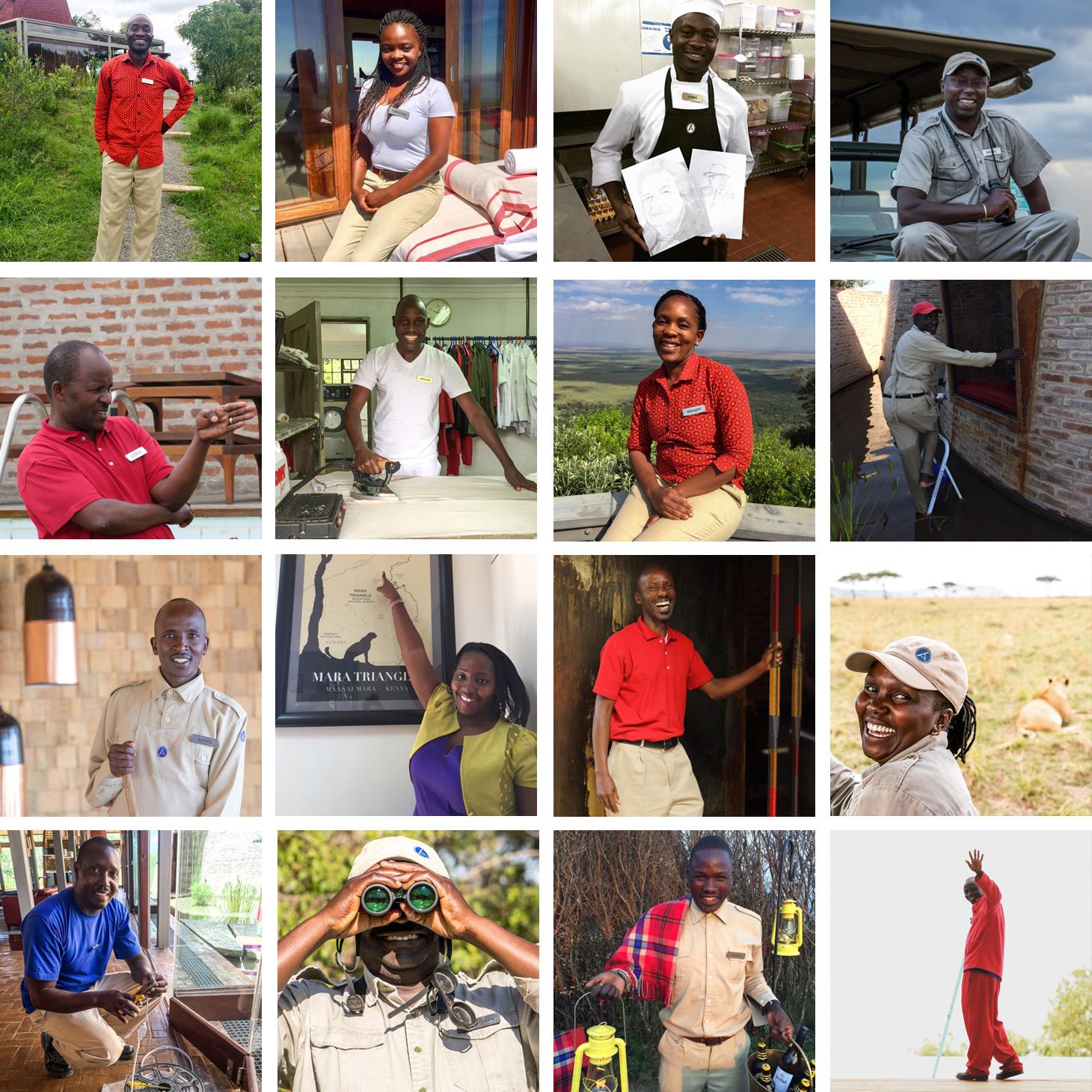 Angama-team collage 1