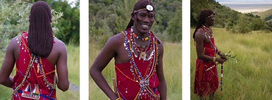 Fred's Maasai regalia