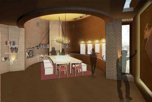 A rendering of the Map Room design