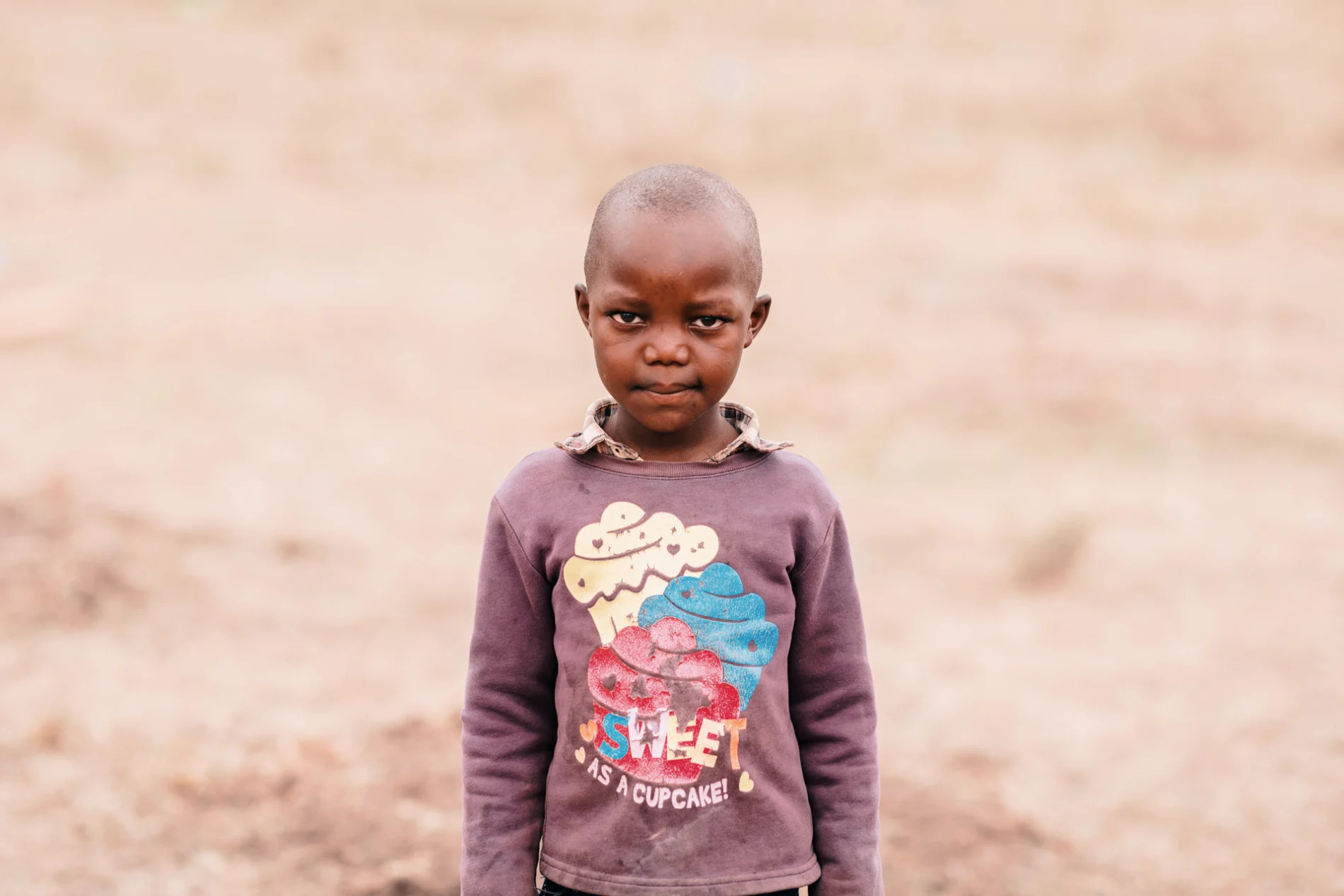 Small child at the maasai ceremony