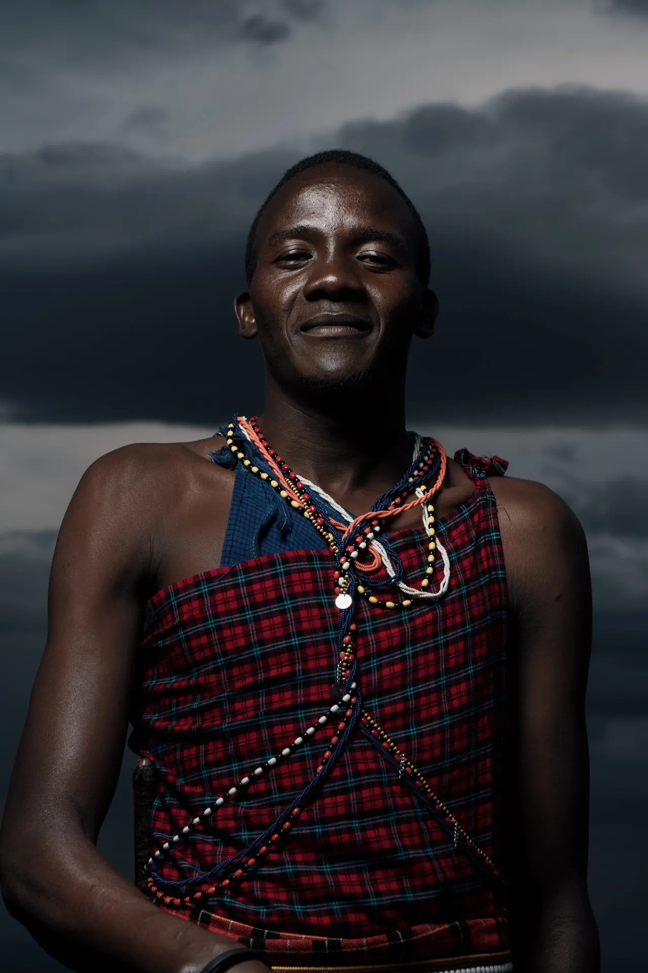 Maasai warrior smiling