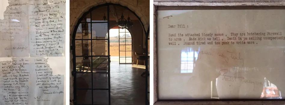 Framed letters in Segeras Explorer Lounge